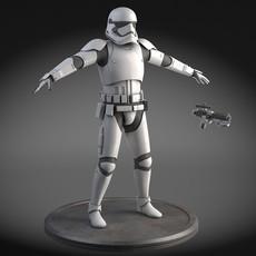 Star Wars First Order Stormtrooper Light 3D Model