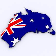 Map of Australia 3D Model