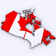 Map of Canada 3D Model