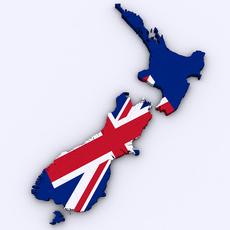 Map of New Zealand 3D Model