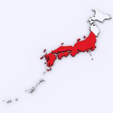 Map of Japan 3D Model