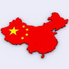 Map of China 3D Model