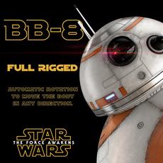 BB-8 Star Wars Droid Full Rigged 3D Model