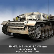 StuG III - Ausf.D - StuG Abt 192 - Winter Camo 3D Model
