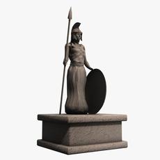 Athena greek stone statue 3D Model