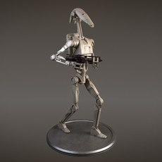 Star Wars Battle Droid rigged for Maya 3D Model