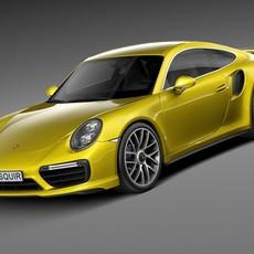 Porsche 911 Turbo S Coupe 2016 3D Model