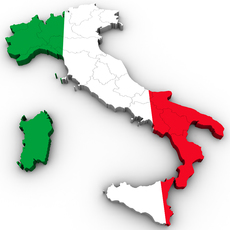 Map of Italy 3D Model