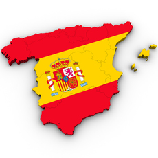 Map of Spain 3D Model
