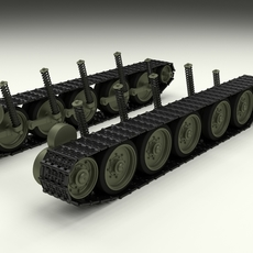 T-34 Tank Tracks and Suspension 3D Model