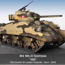 M4 Sherman MK. III - Abe 3D Model