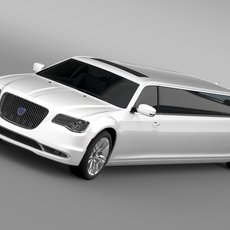 Lancia Thema Limousine 2016 3D Model