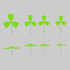 Three Leaf Clover Pack 3D Model