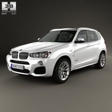 BMW X3 M Sport Package (F25) 2014 3D Model