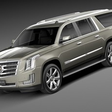 Cadillac Escalade ESV 2016 3D Model