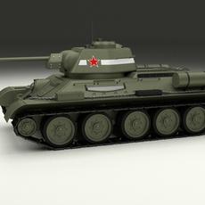 T34/76 Tank 3D Model