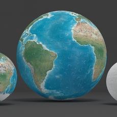 Earth globe puzzle 3D Model