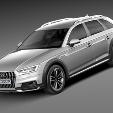 Audi A4 Allroad Quattro 2017 3D Model