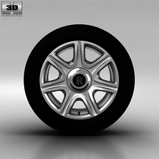 Rolls-Royce Phantom Wheel 21 inch 003 3D Model
