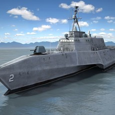 USS Independence LCS-2 ship 3D Model
