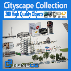 Cityscape Collection 3D Model