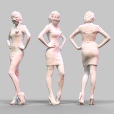 Girl Posing 1 3D Model