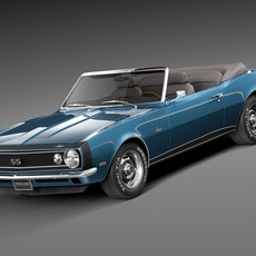 Chevrolet Camaro SS Convertible 1967 3D Model