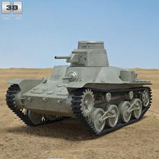Type 95 Ha-Go 3D Model
