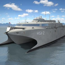 US Navy HSV-2 Swift ship 3D Model