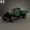 GAZ-AA Flatbed Truck 1932 3D Model