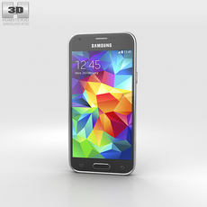 Samsung Galaxy S5 mini Charcoal Black 3D Model