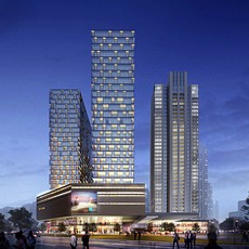 Commercial Plaza 043 3D Model