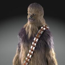 Star Wars Chewbacca 3dsmax 3D Model