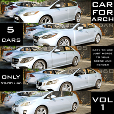 CAR4ARCH VOL.1 : CITY SEDAN CARS COLLECTION 3D Model