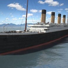 RMS Titanic cruise ship 3D Model