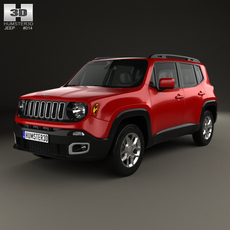 Jeep Renegade Latitude 2015 3D Model