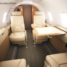 Learjet 31 cabin - interior 3D Model