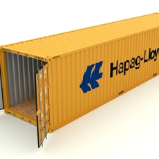 Shipping container Hapag LLoyd 3D Model