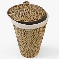 Laundry Basket IKEA Asunden 3D Model