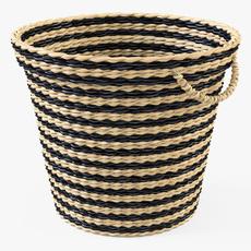 Wicker Basket Ikea Maffens 3D Model