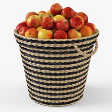 Wicker Apple Basket Ikea Maffens 3D Model