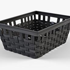 Wicker Basket Ikea Knarra 1 Black Color 3D Model