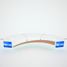 Tv Studio News Desk 004 3D Model