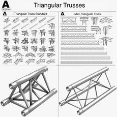 Triangular Trusses 002 3D Model