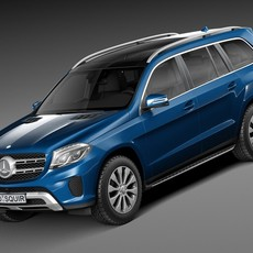 Mercedes-Benz GLS 2017 3D Model