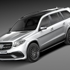 Mercedes-Benz GLS63 AMG 2017 3D Model