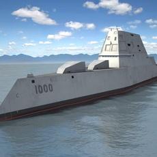 USS Zumwalt DDG-1000 3D Model