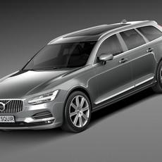 Volvo V90 Estate 2017 3D Model