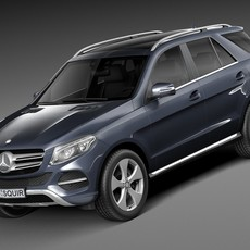 Mercedes-Benz GLE 2016 3D Model
