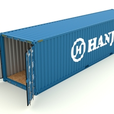 Shipping container Hanjin 3D Model